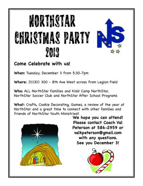 NorthStar Christmas Party Invite